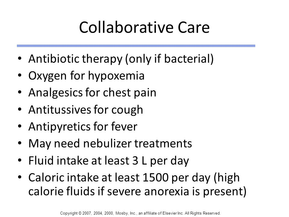 Collaborative Care Antibiotic therapy (only if bacterial)