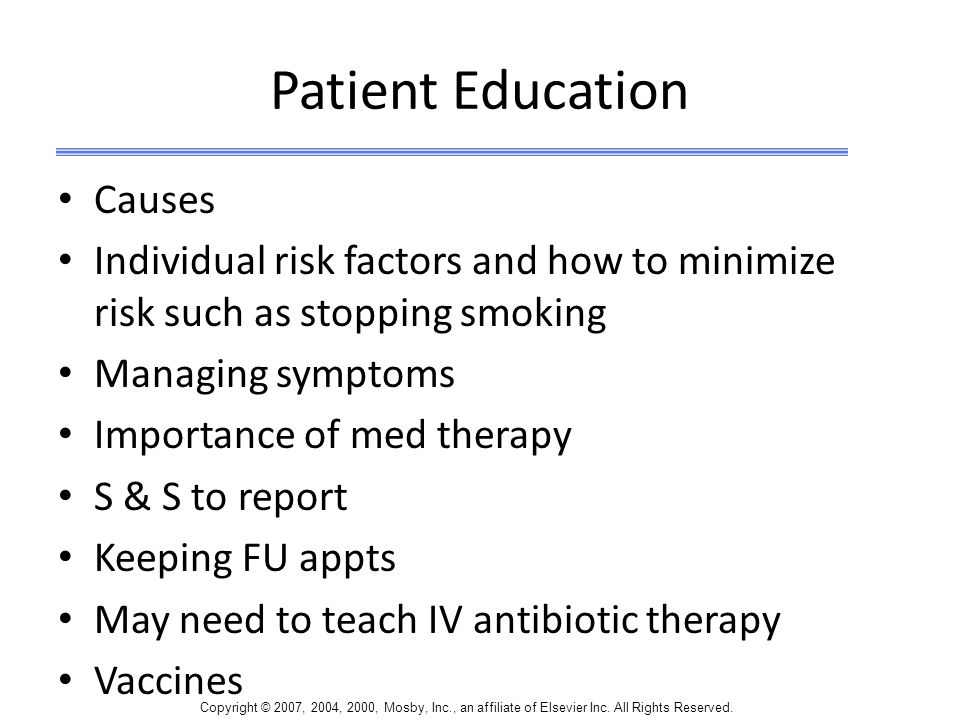 Patient Education Causes