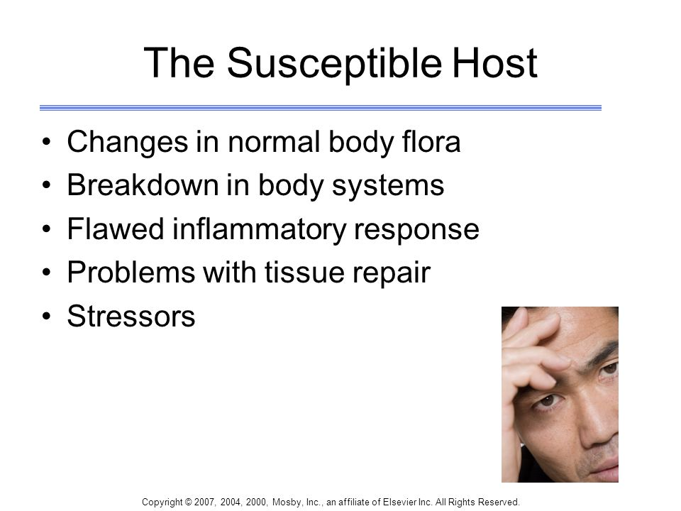 The Susceptible Host Changes in normal body flora