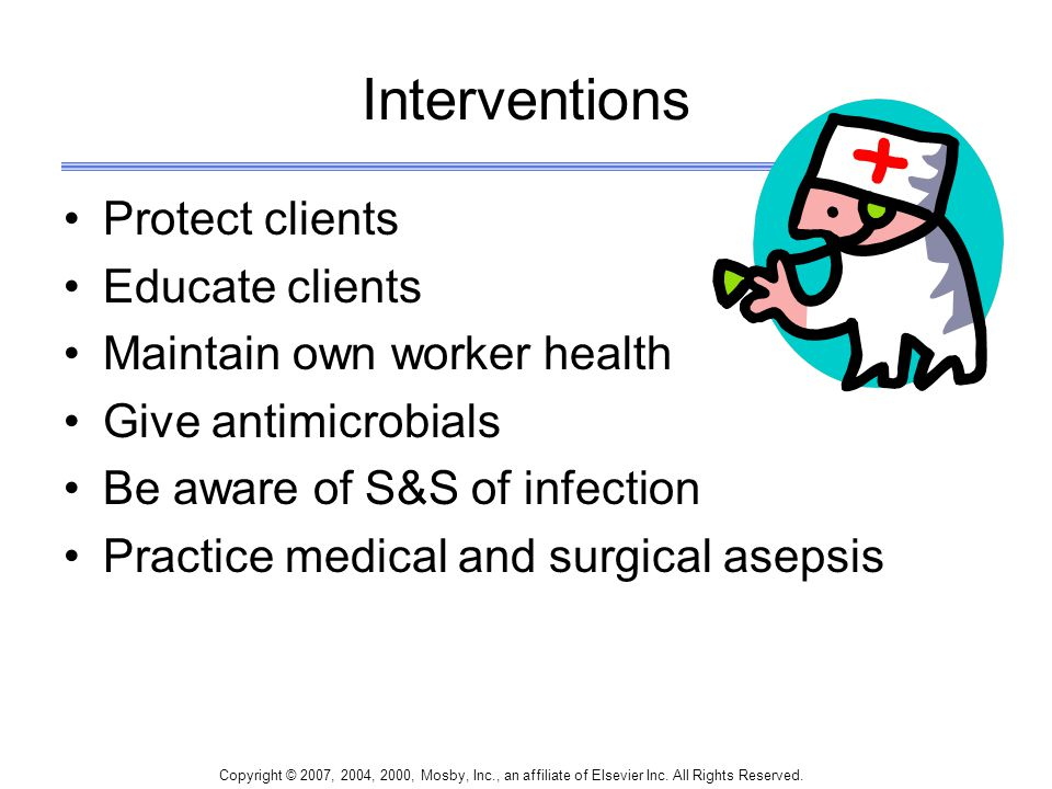 Interventions Protect clients Educate clients