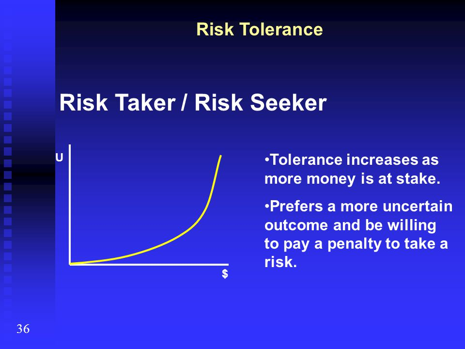 Risk Taker / Risk Seeker
