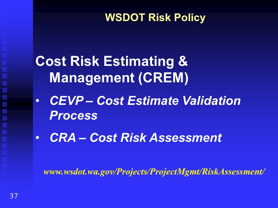 Cost Risk Estimating & Management (CREM)
