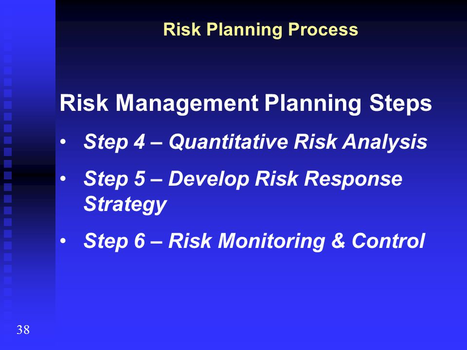 Risk Management Planning Steps