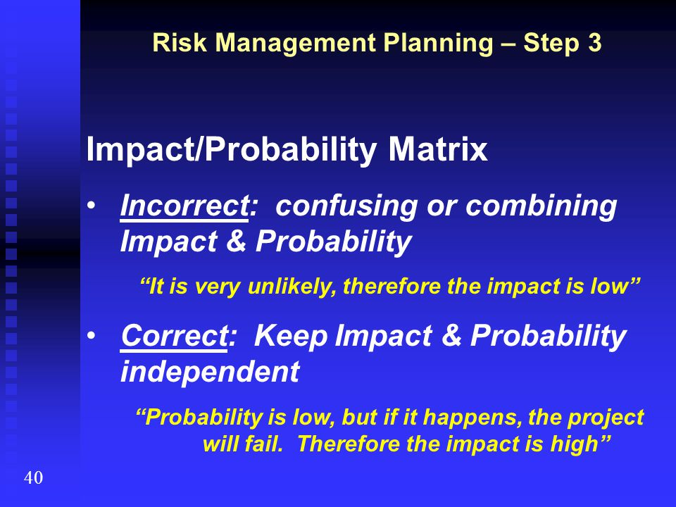 Impact/Probability Matrix