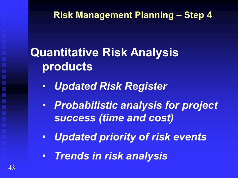 Risk Management Planning – Step 4