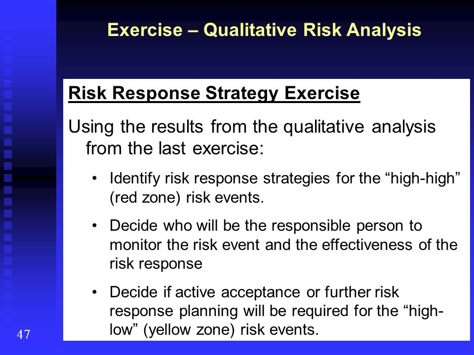 Exercise – Qualitative Risk Analysis