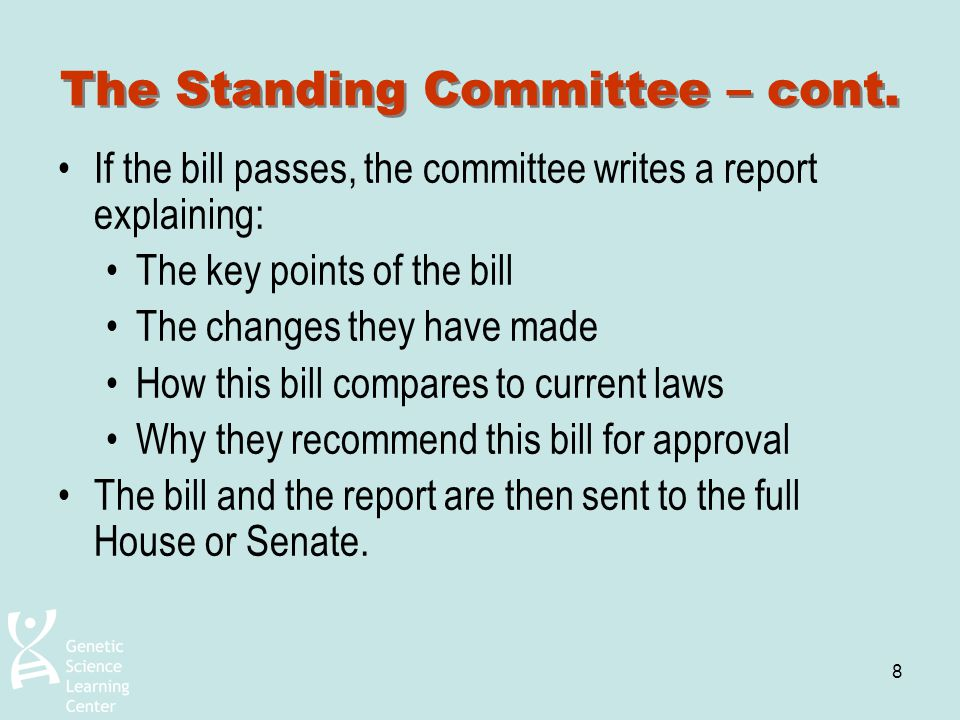 The Standing Committee – cont.