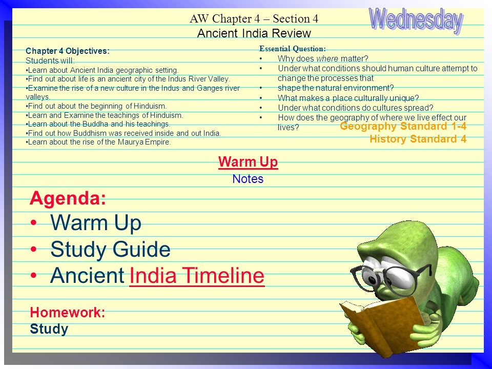 AW Chapter 4 – Section 4 Ancient India Review