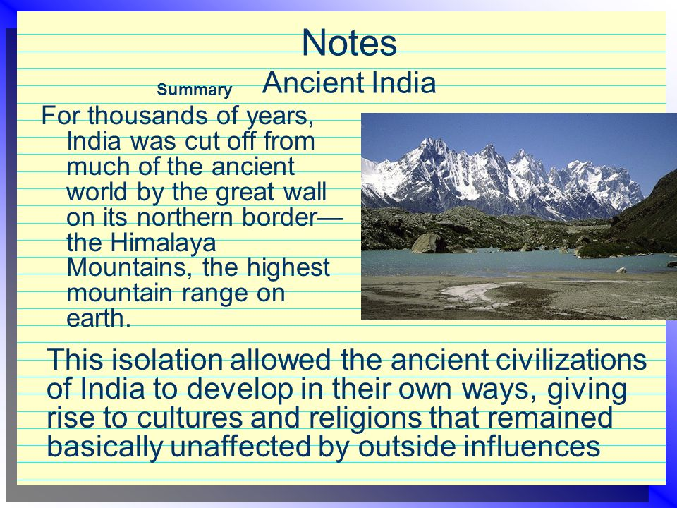 Notes Ancient India Summary.