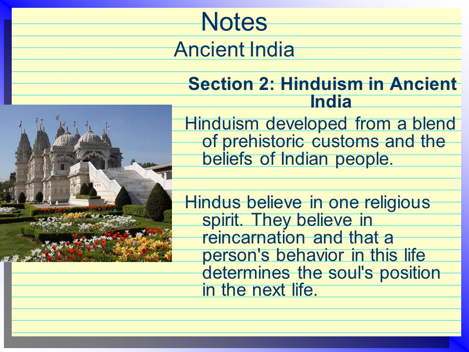 Section 2: Hinduism in Ancient India