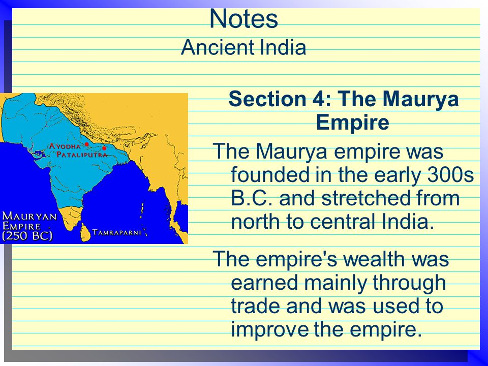 Section 4: The Maurya Empire