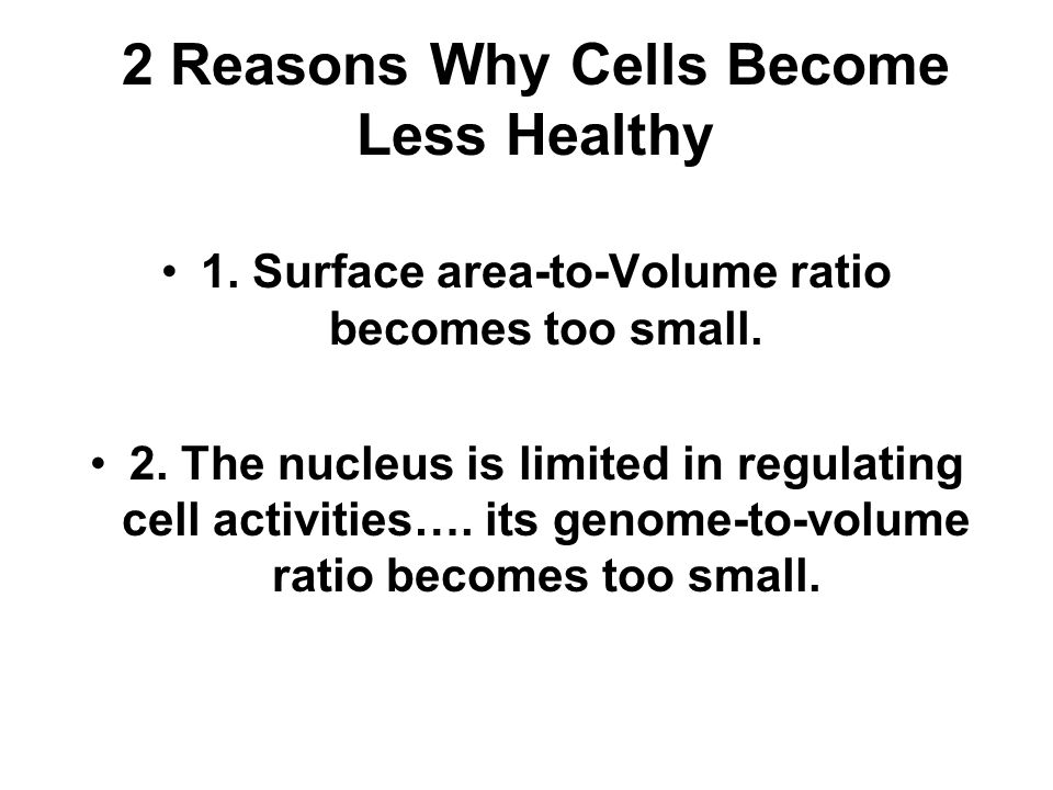 2 Reasons Why Cells Become Less Healthy