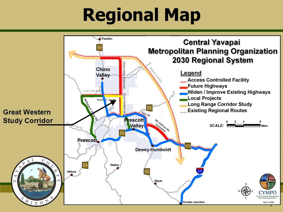 Regional Map Great Western Study Corridor