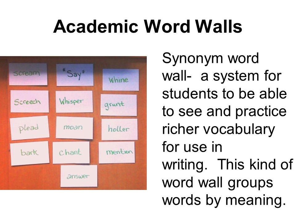 Academic Word Walls
