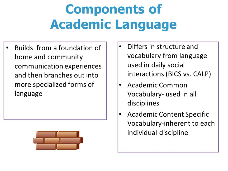 Components of Academic Language