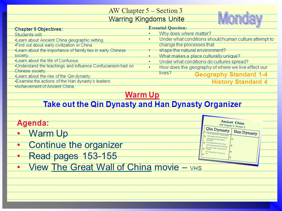 Take out the Qin Dynasty and Han Dynasty Organizer