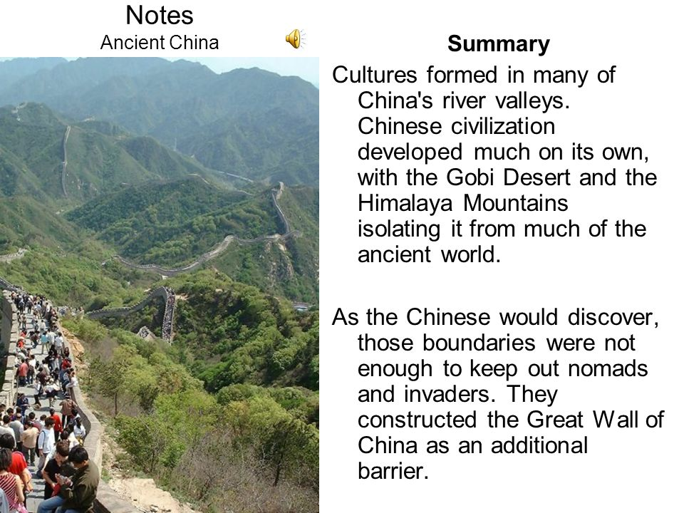 Notes Ancient China Summary.