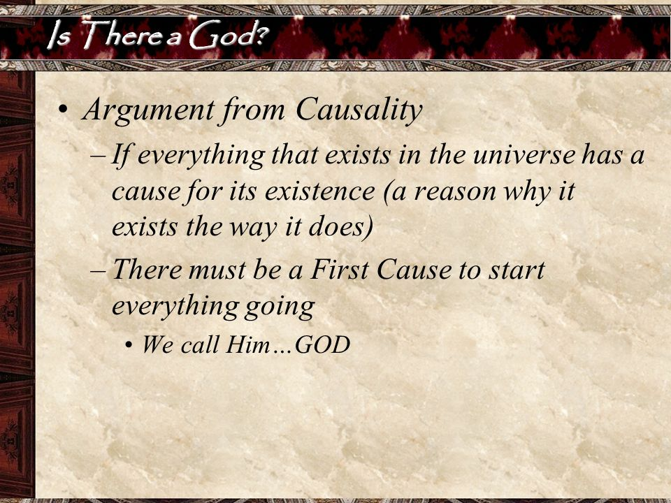 Argument from Causality