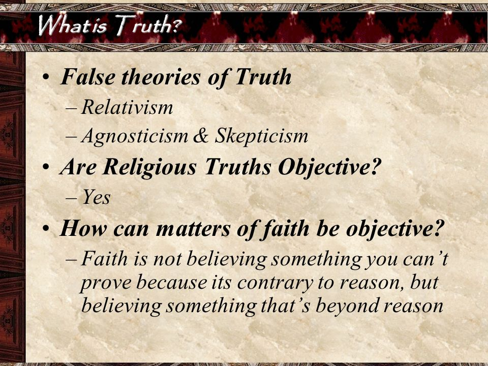 False theories of Truth