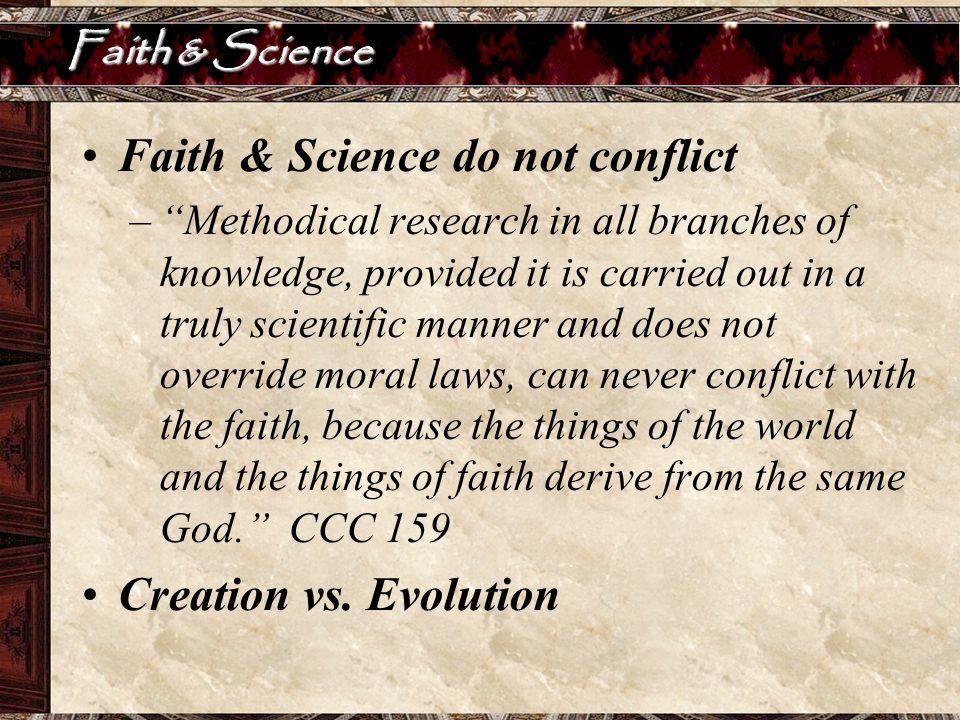 Faith & Science do not conflict