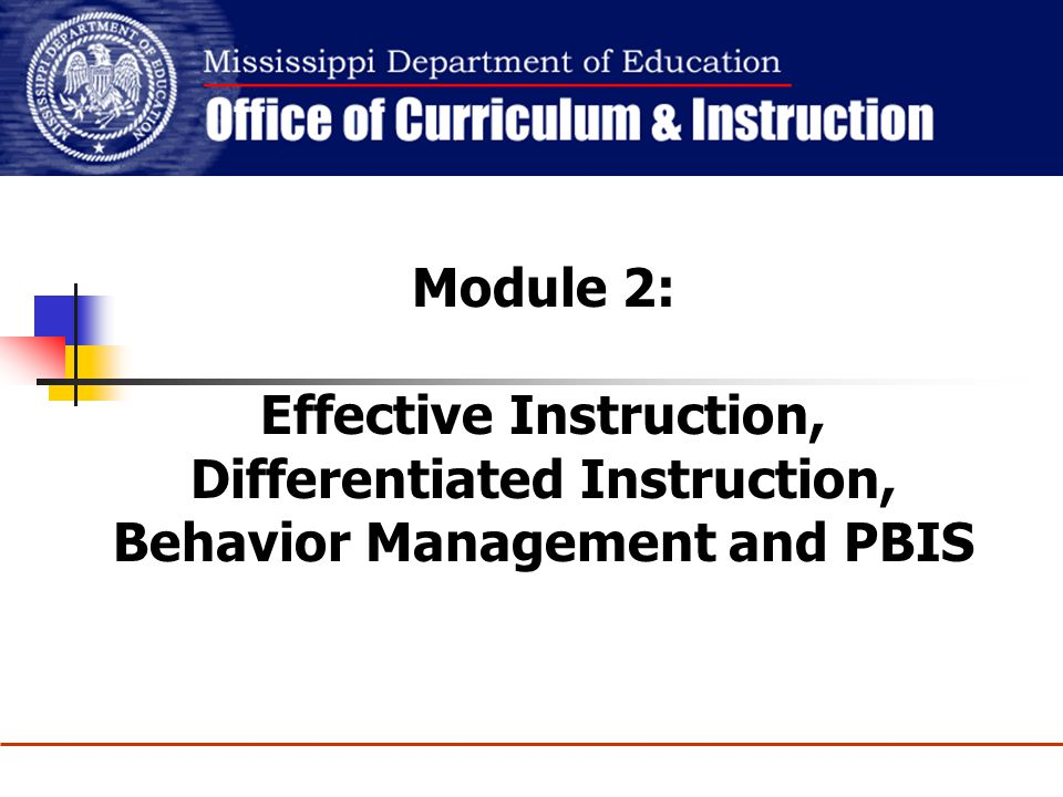 Effective Instruction, Differentiated Instruction,