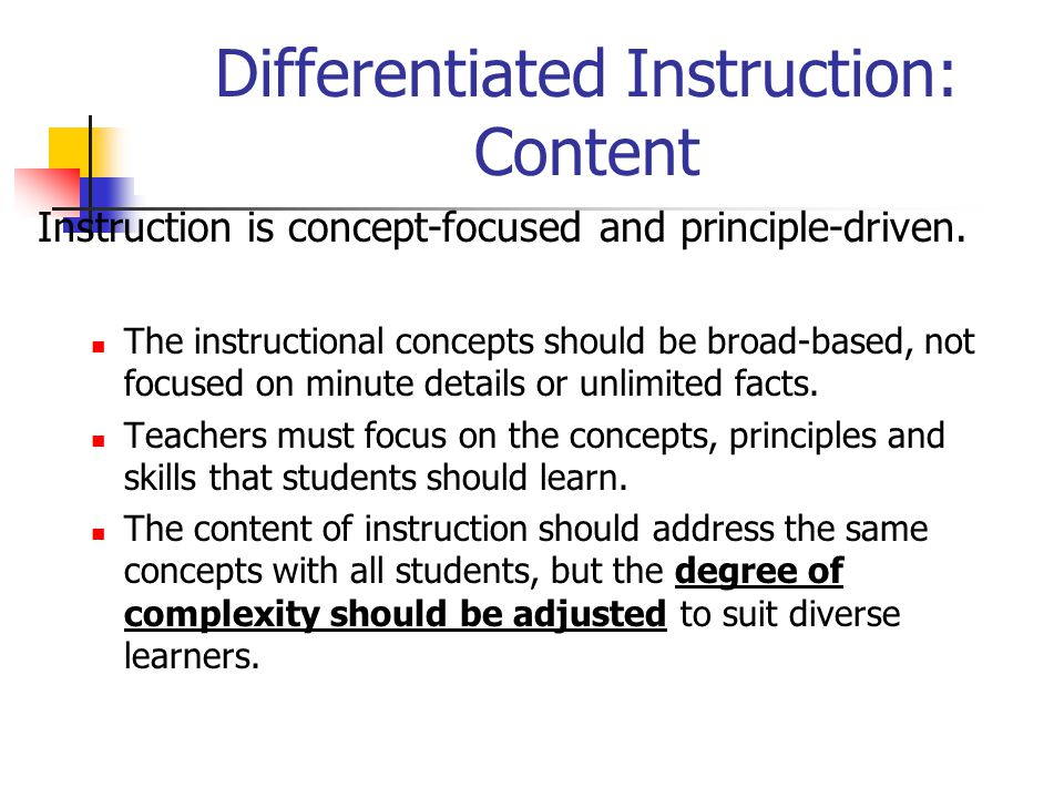 Differentiated Instruction: Content