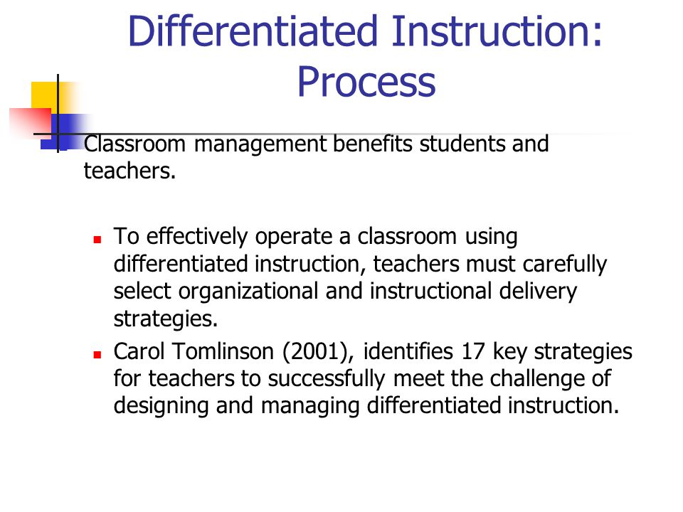 Differentiated Instruction: Process