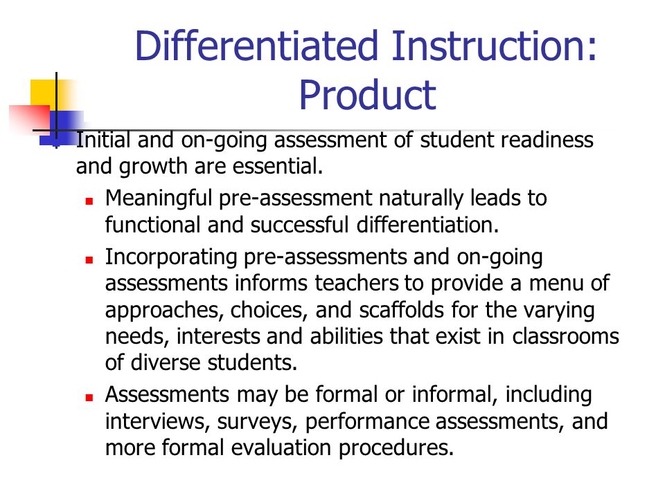 Differentiated Instruction: Product