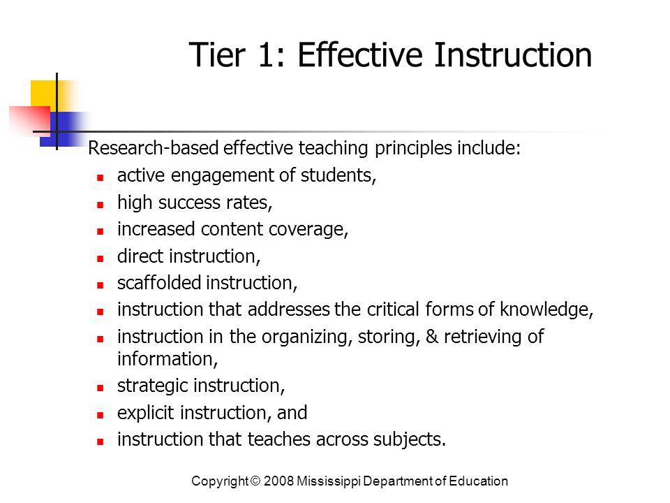 Tier 1: Effective Instruction