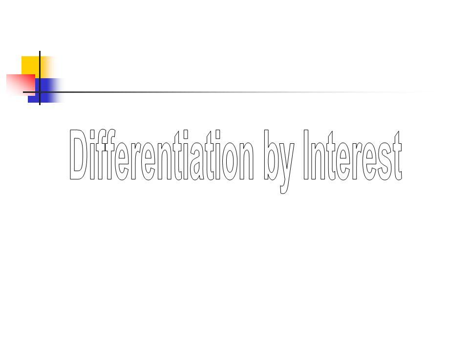 Differentiation by Interest