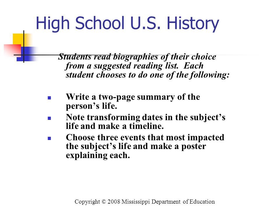 Copyright © 2008 Mississippi Department of Education