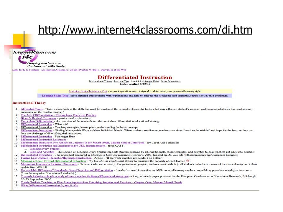 http://www.internet4classrooms.com/di.htm 86