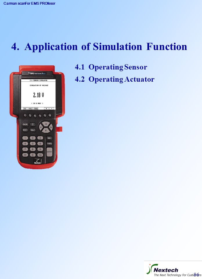 4. Application of Simulation Function