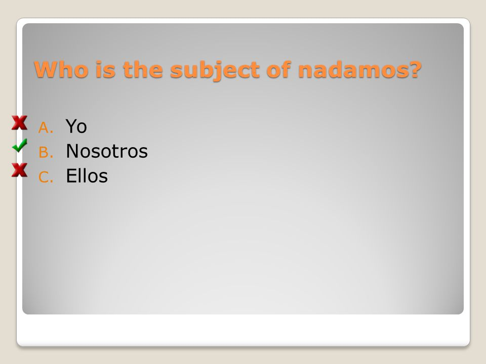 Who is the subject of nadamos