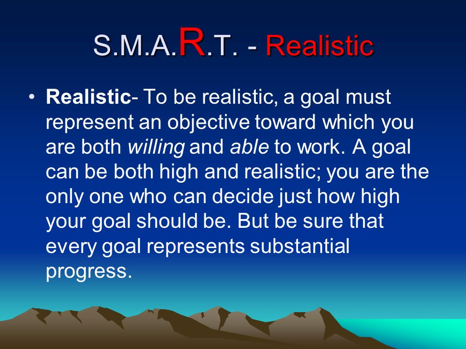 S.M.A.R.T. - Realistic