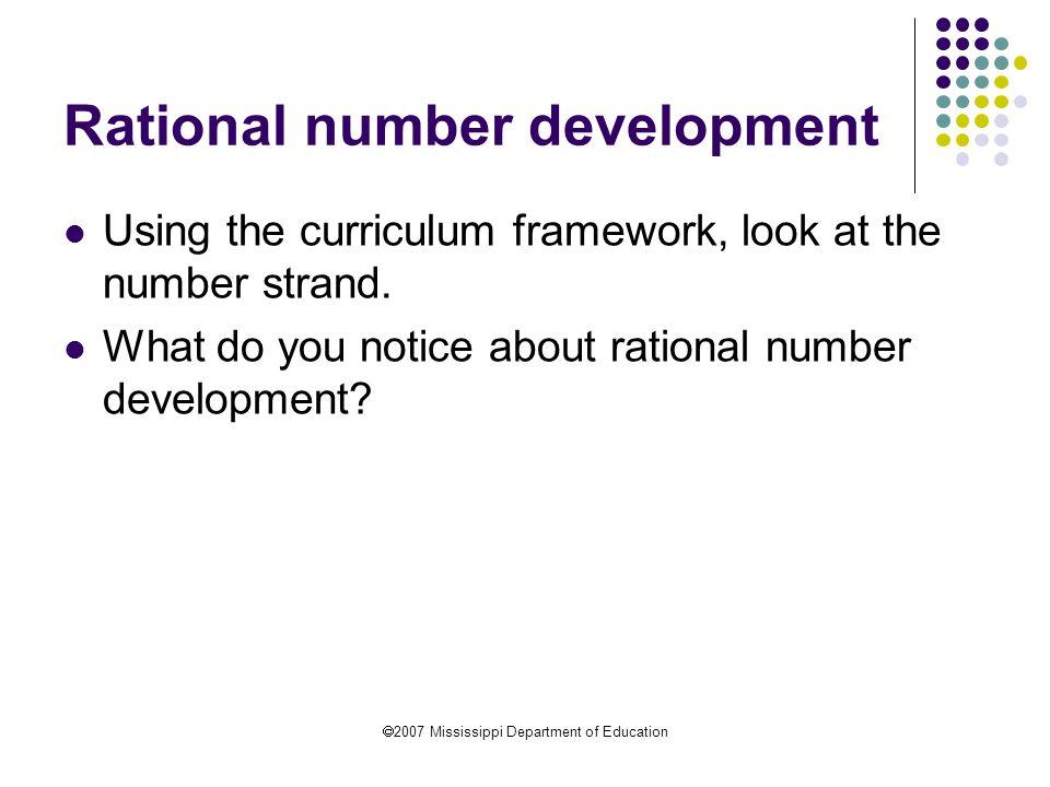 Rational number development