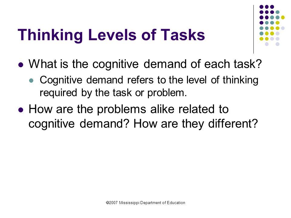 Thinking Levels of Tasks
