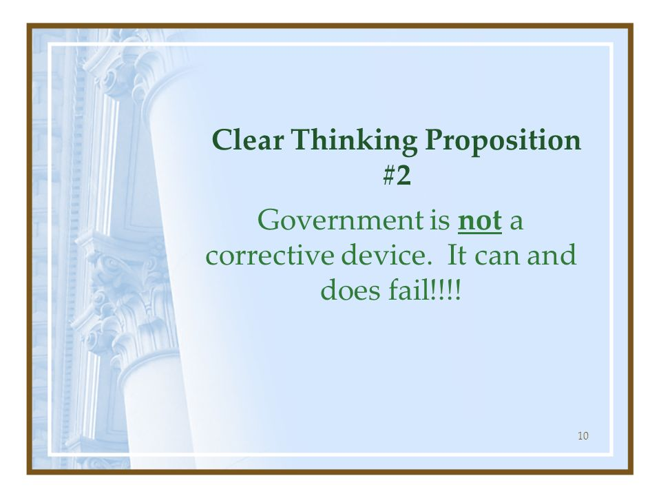 Clear Thinking Proposition #2
