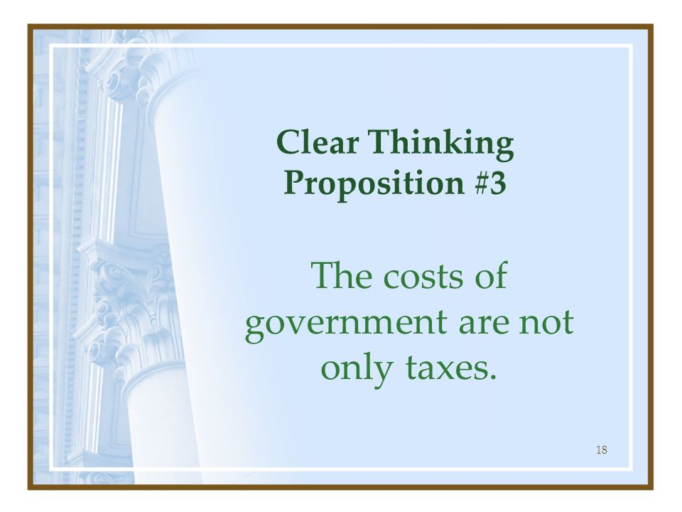 Clear Thinking Proposition #3