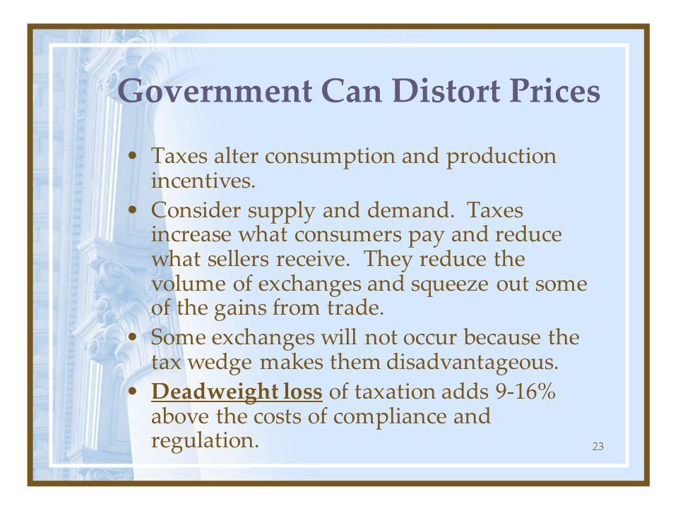 Government Can Distort Prices