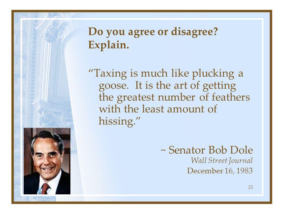 Do you agree or disagree Explain.