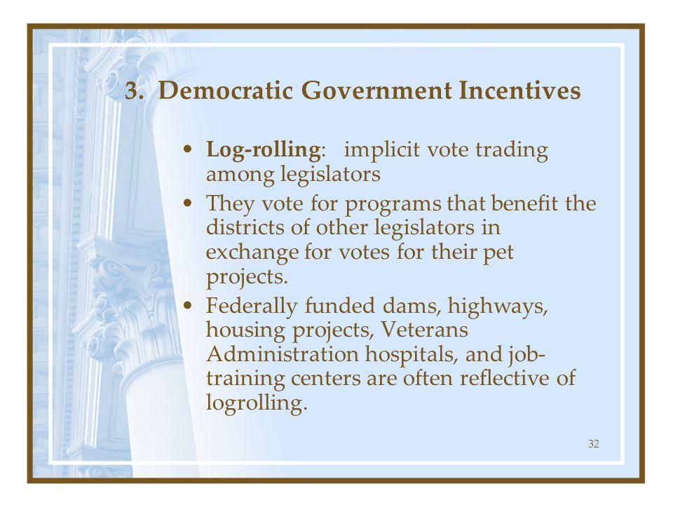 3. Democratic Government Incentives
