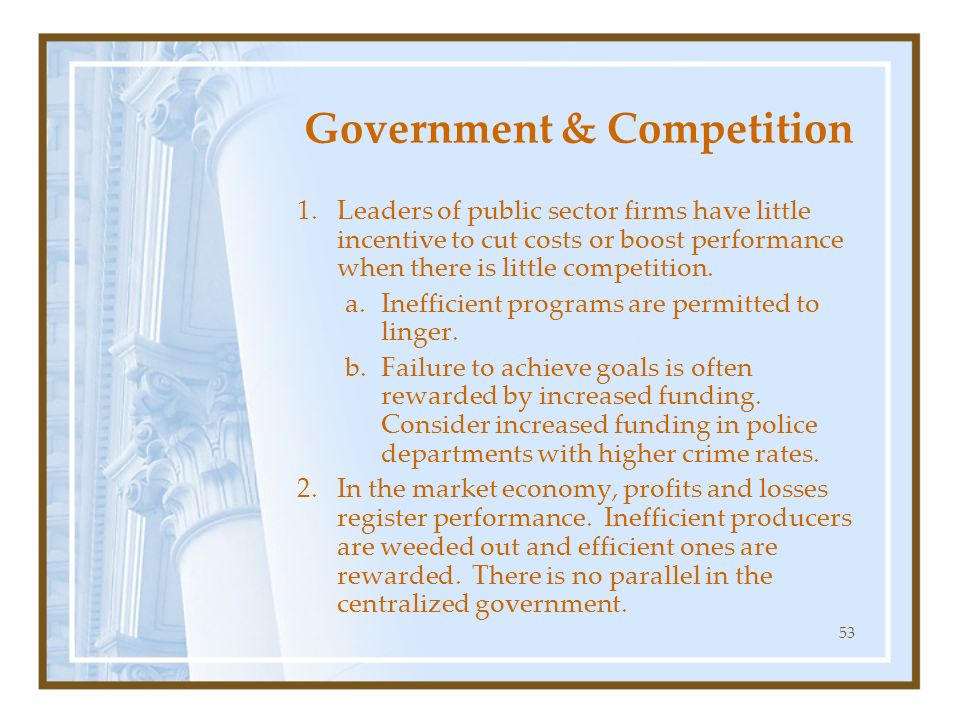 Government & Competition