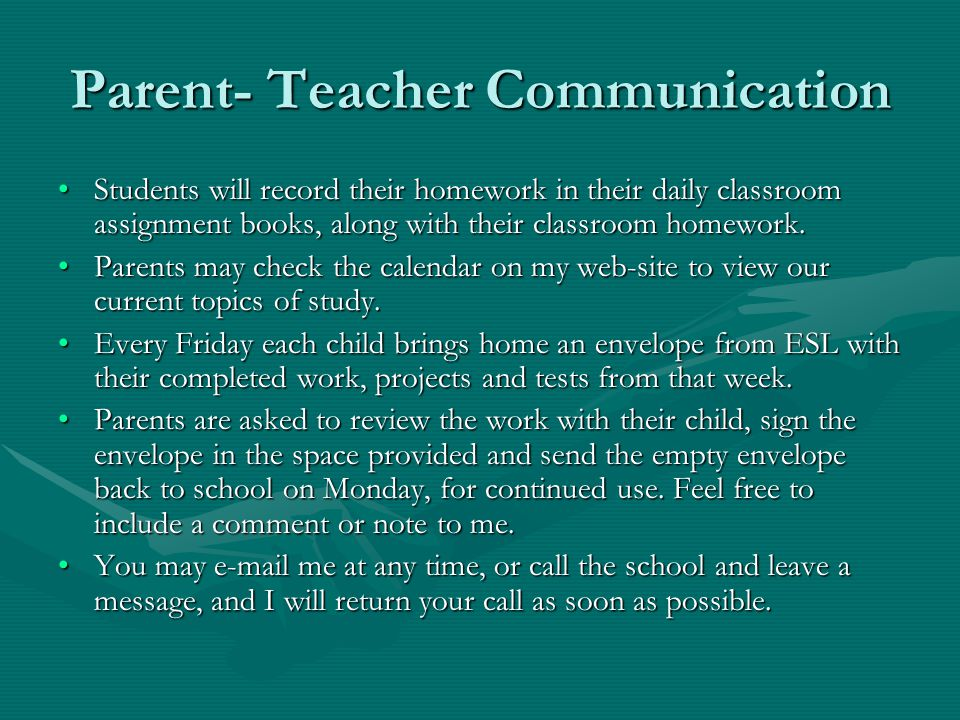 Parent- Teacher Communication