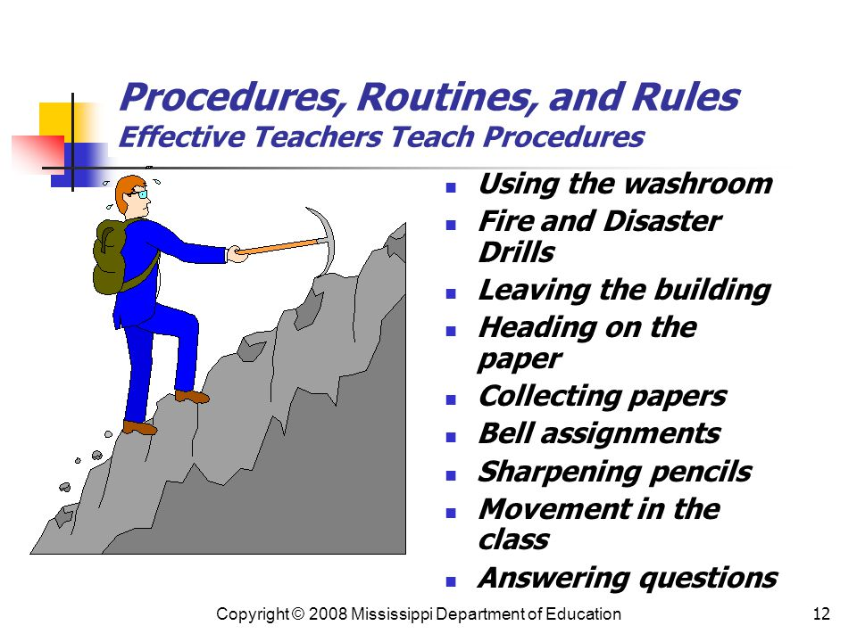 Procedures, Routines, and Rules Effective Teachers Teach Procedures