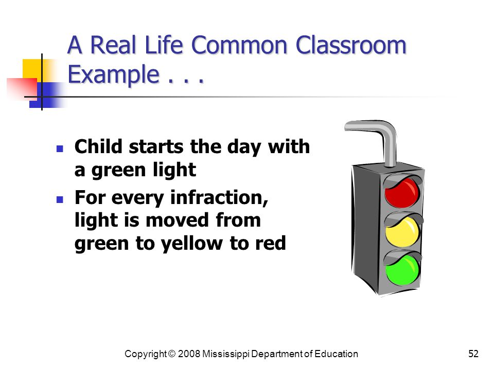 A Real Life Common Classroom Example . . .