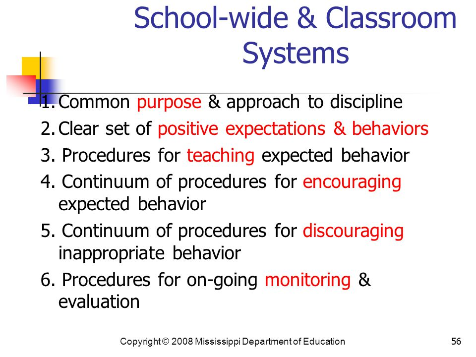 School-wide & Classroom Systems