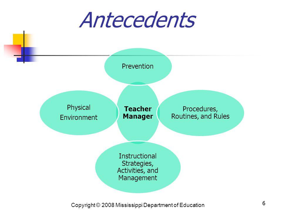 Antecedents Classroom
