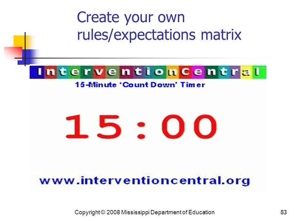 Create your own rules/expectations matrix