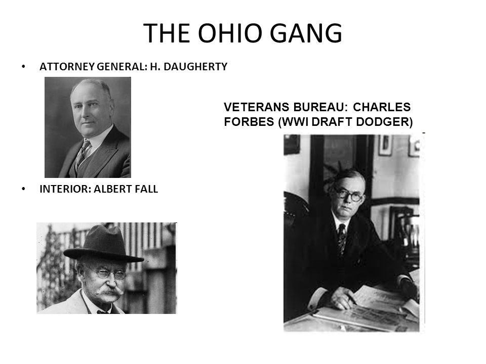 THE OHIO GANG ATTORNEY GENERAL: H. DAUGHERTY
